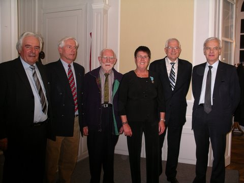 Sheena Fitzmaurice with the Dignitaries of the City of Coutances
