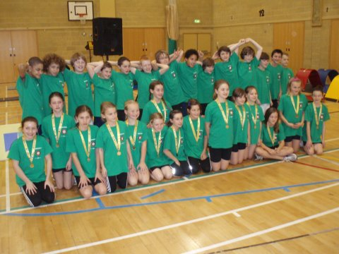 Hampshire's Under 11 Boys' and Girls' Teams at Olympos, Burgess Hill