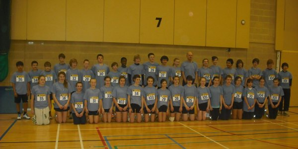 Under 13 and Under 15 Hampshire Sportshall teams