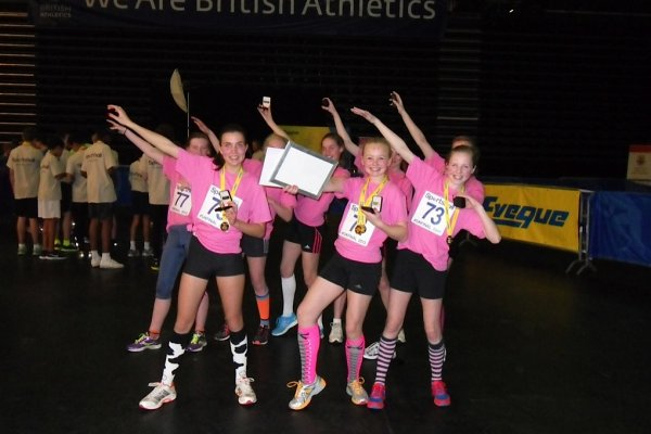"Under 13 Girls ""doing the bolt"""