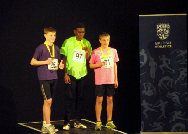 Sam Bridges won a silver medal for the U13B 2 Lap race
