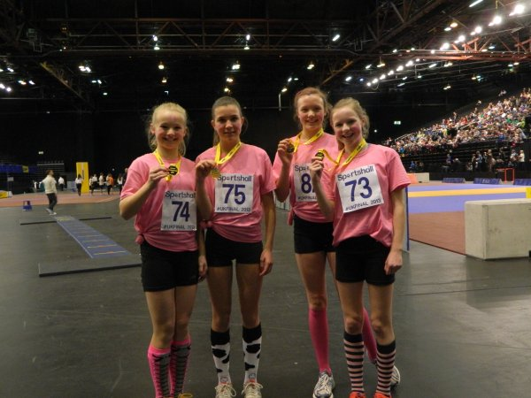 The Under 13 Girls won the 4x2 Lap Relay