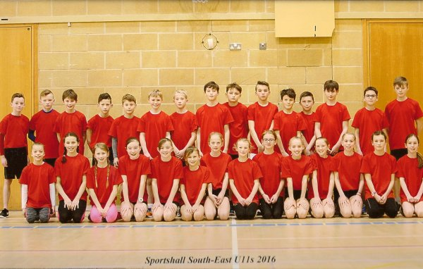Hampshire U11 Sportshall team