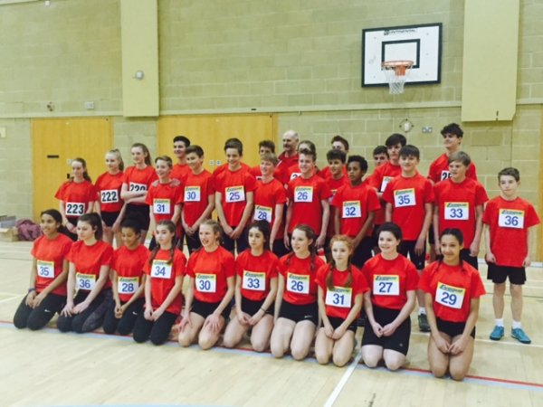 Hampshire Sportshall team at the Regional Finals 2016