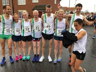Hampshire team before the start of the race