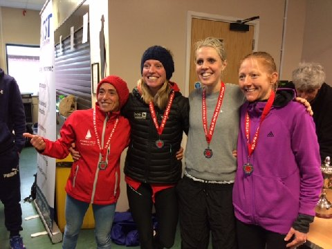 Hampshire's women's team with their medals